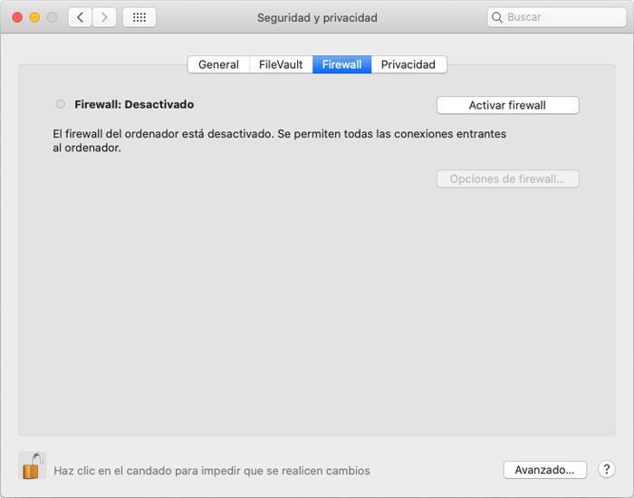 Joaquin Sanz - Haz Seguro tu Sistema Apple macOS - Firewall Imagen 1