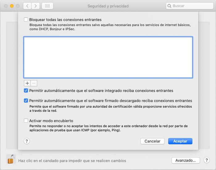 Joaquin Sanz - Haz Seguro tu Sistema Apple macOS - Firewall Imagen 3