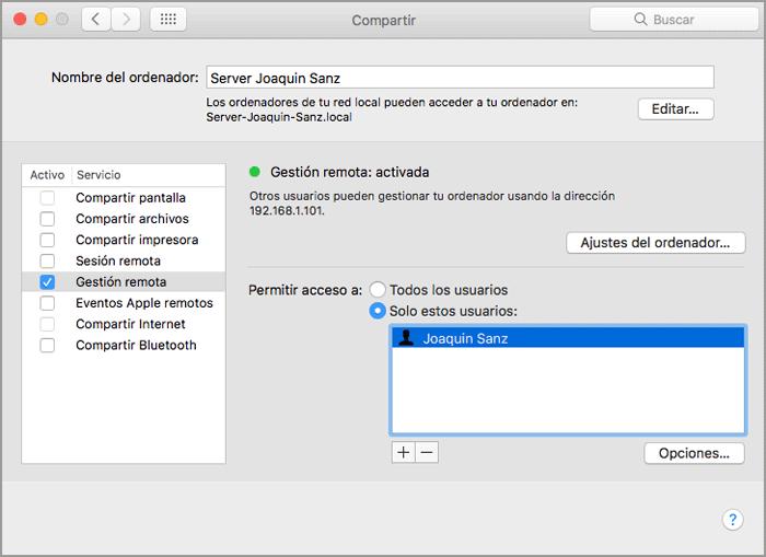 Joaquin Sanz - La aplicación Apple macOS Server 5.2 - Imagen 1