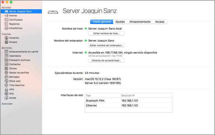 Joaquin Sanz - La aplicación Apple macOS Server 5.2 - Imagen 2